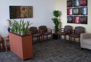Indoor Plant Rental Upland California building lobby