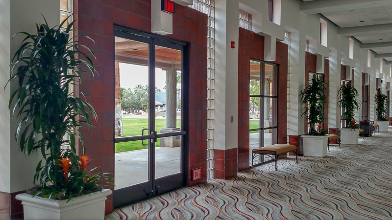 Indoor plant care at Palm Springs Convention Center