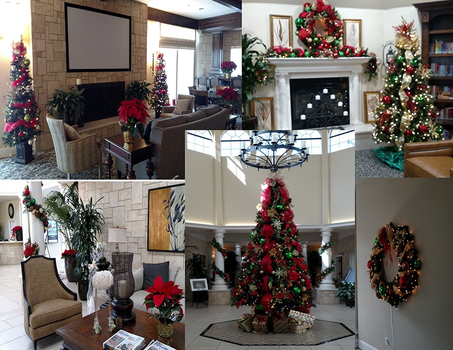 Holiday Décor at The Colony in Murrieta California by Inside Plants