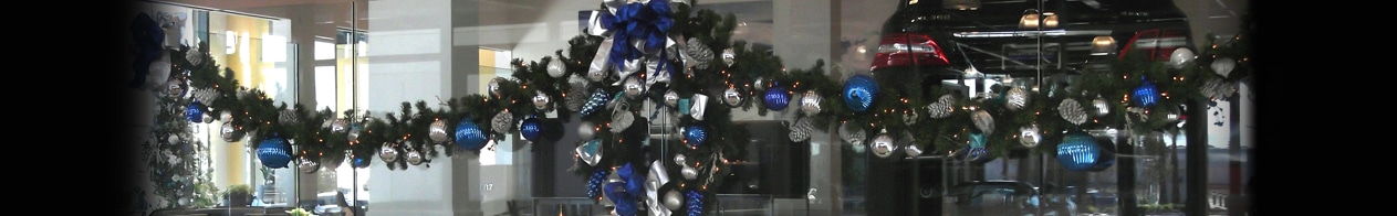 Holiday decor blue and silver