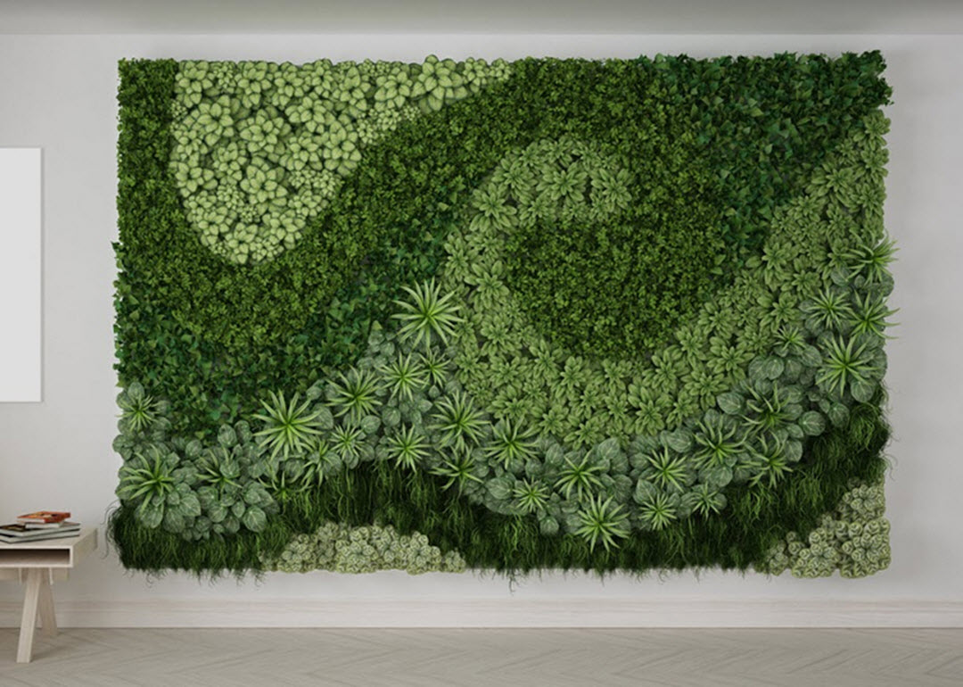 plants to boost productivity living wall